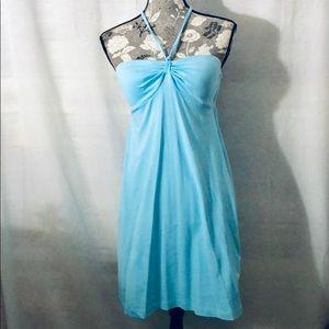Tommy Bahama sky blue halter style stretch dress S